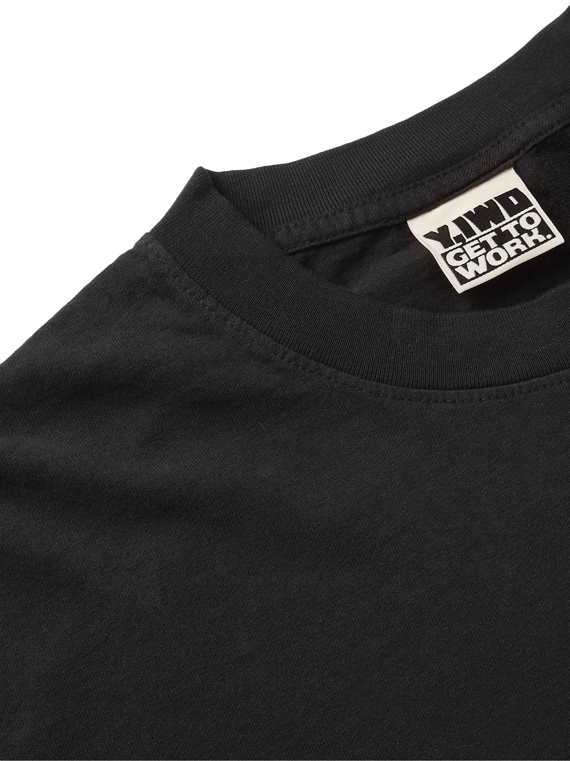 Y,IWO Club Sweat Printed Cotton-Jersey T-Shirt