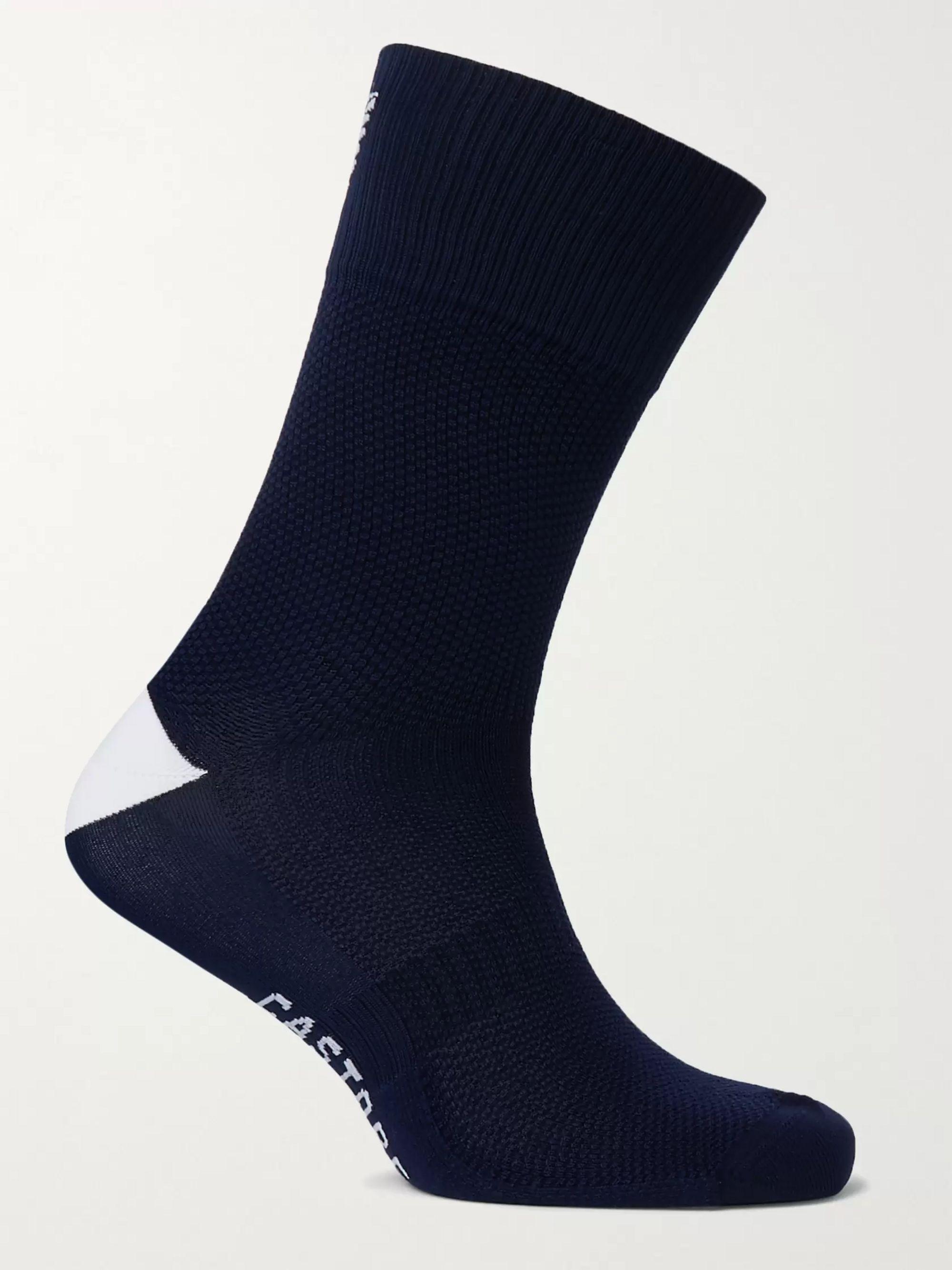 White Xerez Logo-Intarsia Stretch-Jersey Socks | CASTORE | MR PORTER