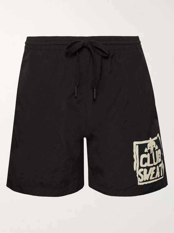 Y,IWO Club Sweat Printed Nylon Drawstring Shorts