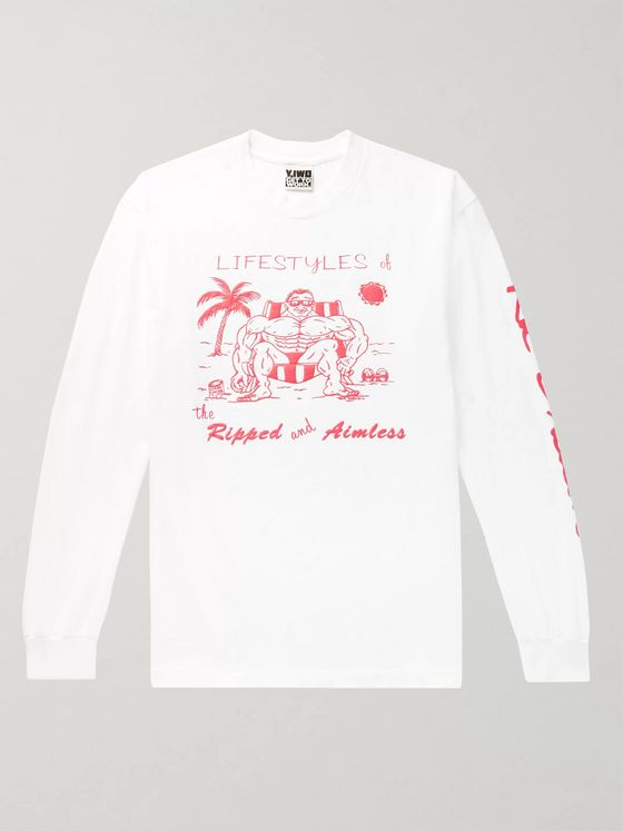 Y,IWO Lifestyles of the Ripped and Aimless Printed Cotton-Jersey T-Shirt