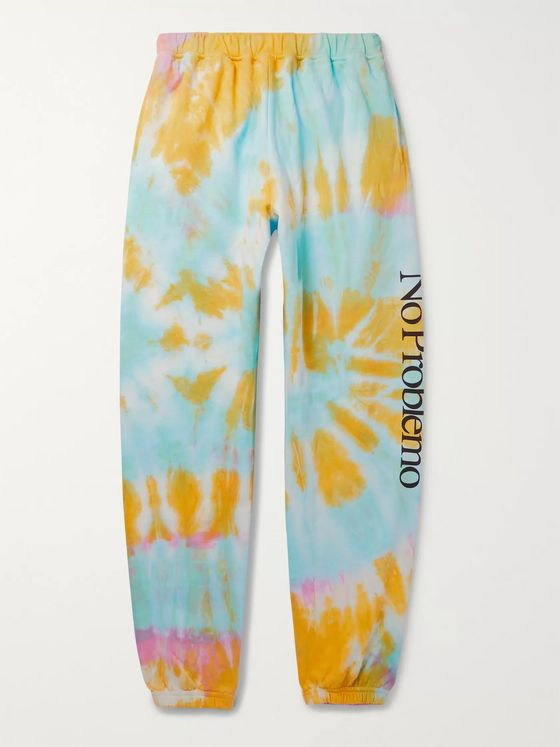 Aries Tapered Printed Tie-Dyed Fleece-Back Cotton-Jersey Sweatpants