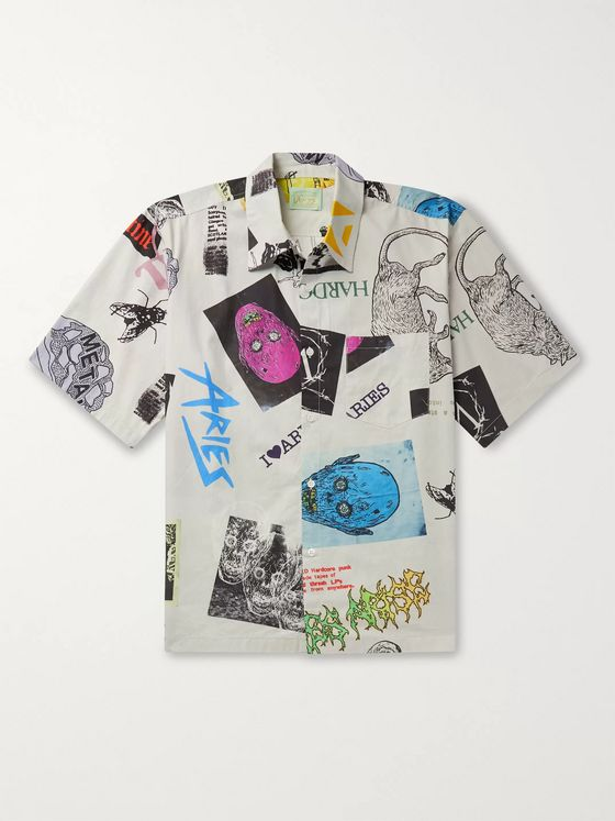 Aries Thrasher Printed Cotton-Ripstop Shirt
