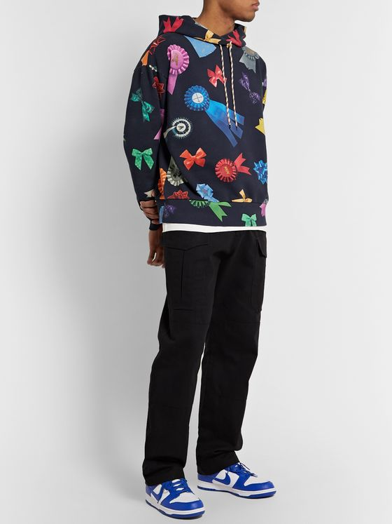 Aries Printed Fleece-Back Cotton-Jersey Hoodie
