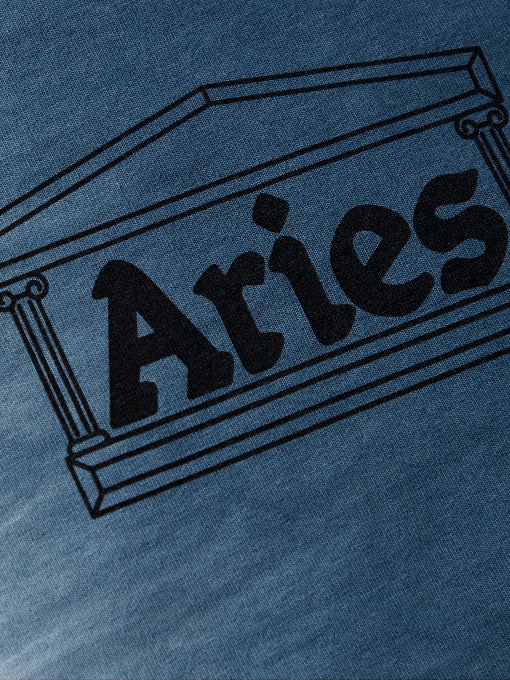 Aries Logo-Print Tie-Dyed Cotton-Jersey T-Shirt