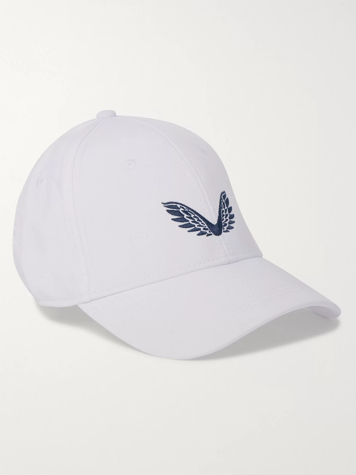 Castore Ghost Logo-embroidered Woven Baseball Cap In White