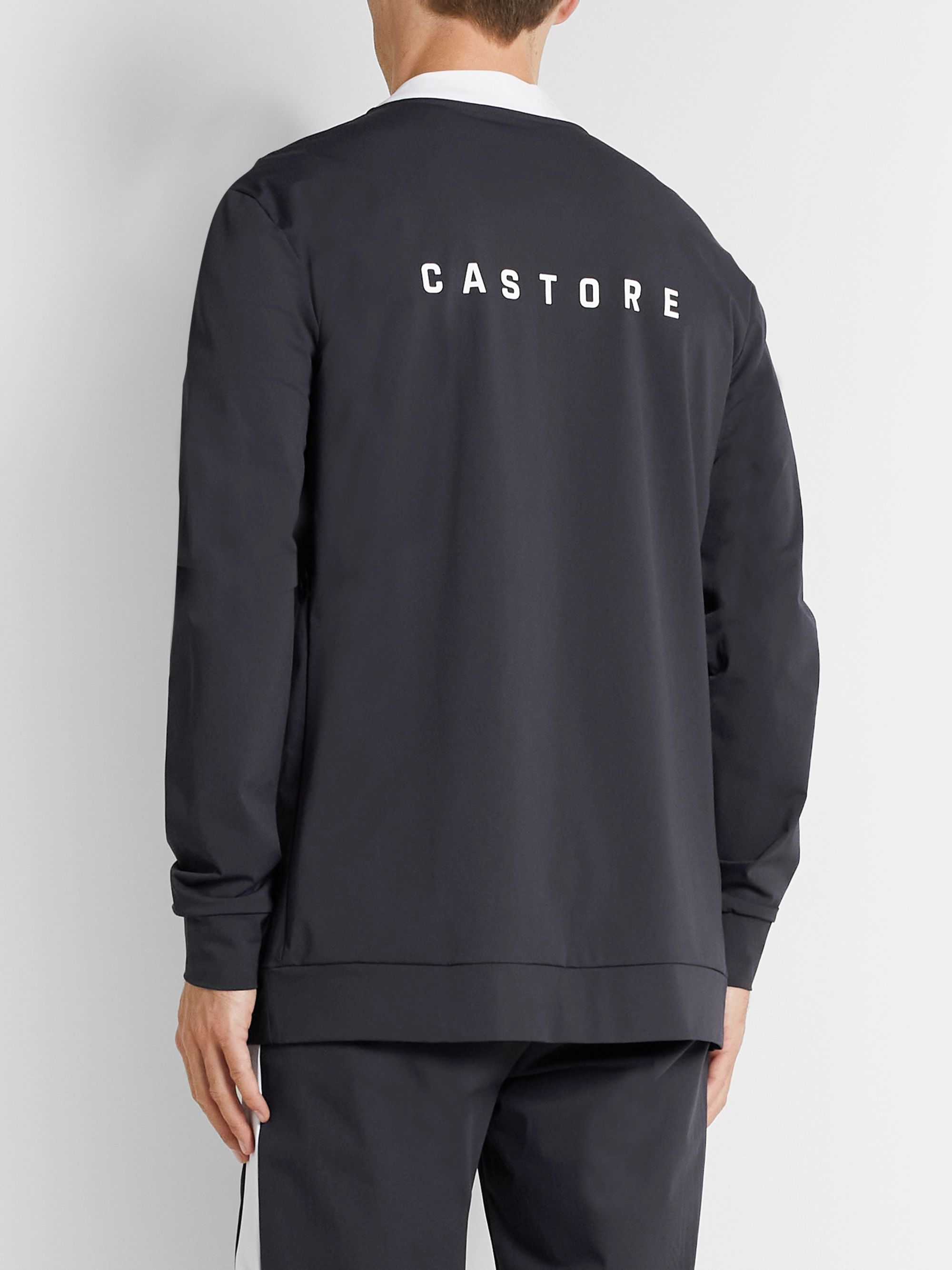 CASTORE Stadium Logo-Print Stretch-Shell Jacket