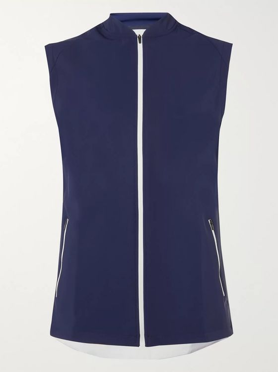 CASTORE Joseph Slim-Fit Stretch-Shell and Mesh Gilet
