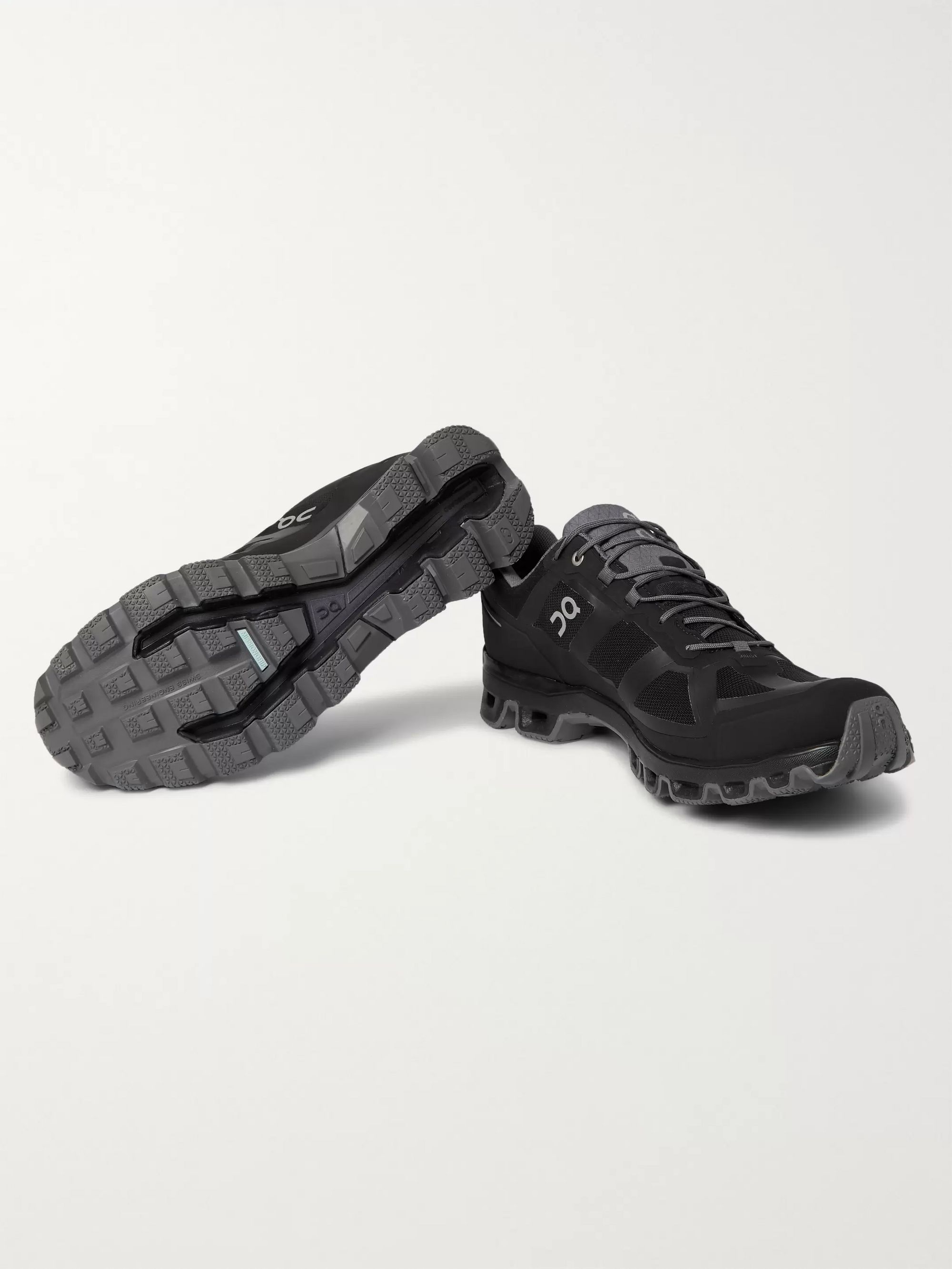 Black Cloudventure Rubber-trimmed Mesh And Shell Trail Running Sneakers | On