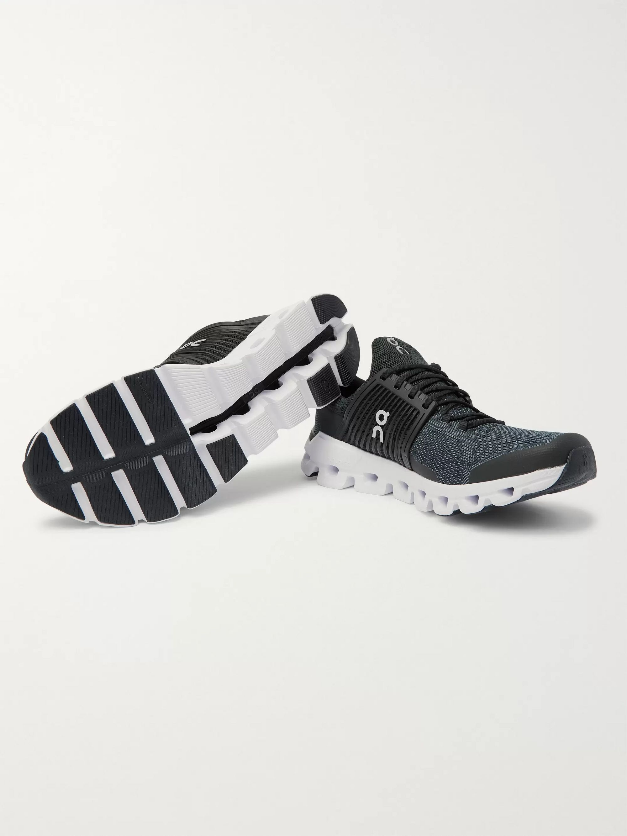 Black Cloudswift Rubber-trimmed Mesh Running Sneakers | On