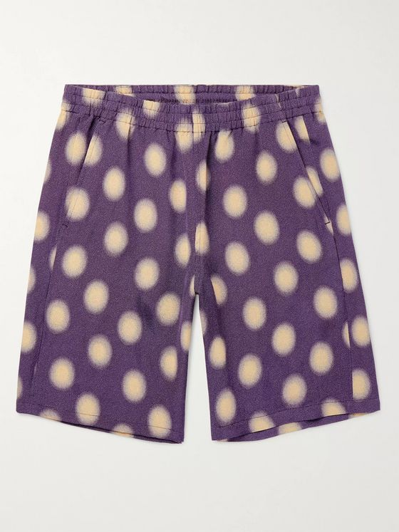 Needles Polka-Dot Jersey Basketball Shorts