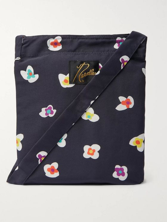Needles Floral-Print Nylon Pouch