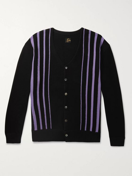 Needles Striped Cotton-Blend Cardigan