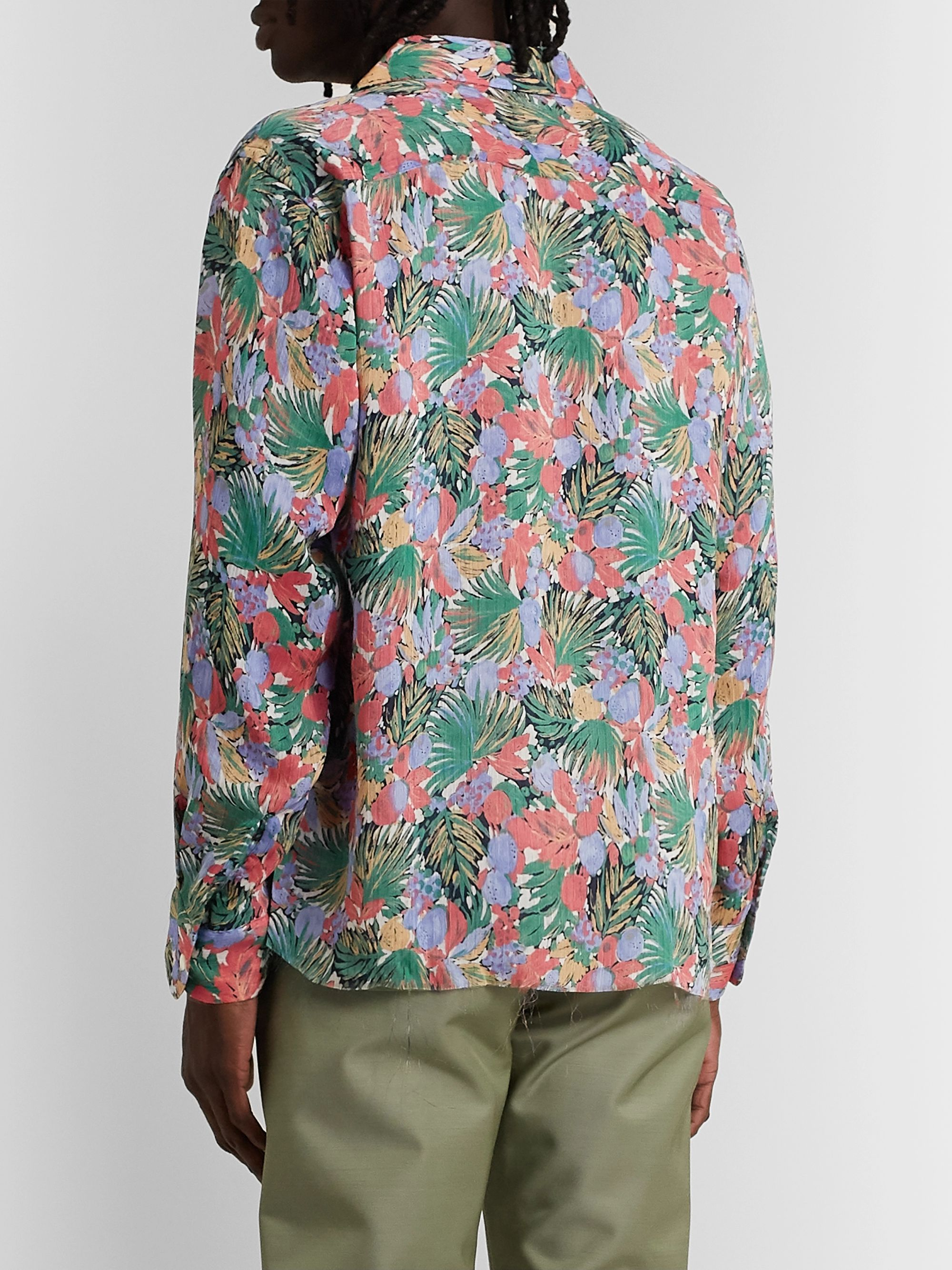 Needles Camp-Collar Floral-Print Woven Shirt