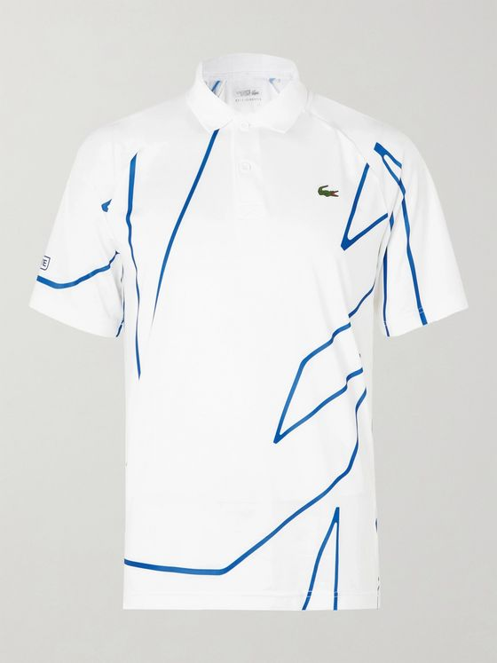 Lacoste Tennis + Novak Djokovic Printed Stretch-Jersey Polo Shirt