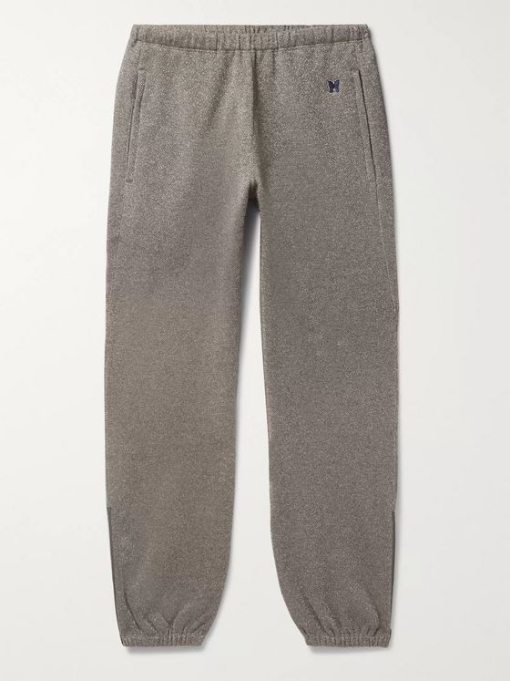Needles Fleece-Back Cotton-Blend Lurex Track Pants