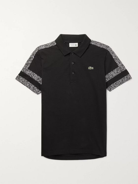 Lacoste Tennis Printed Cotton-Piqué Polo Shirt