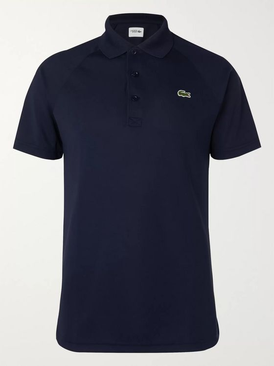 Lacoste Tennis Logo-Appliquéd Cotton-Piqué Polo Shirt