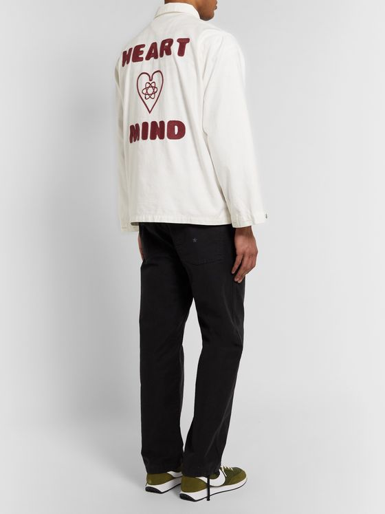 Billionaire Boys Club Logo-Embroidered Appliquéd Slub Cotton Jacket
