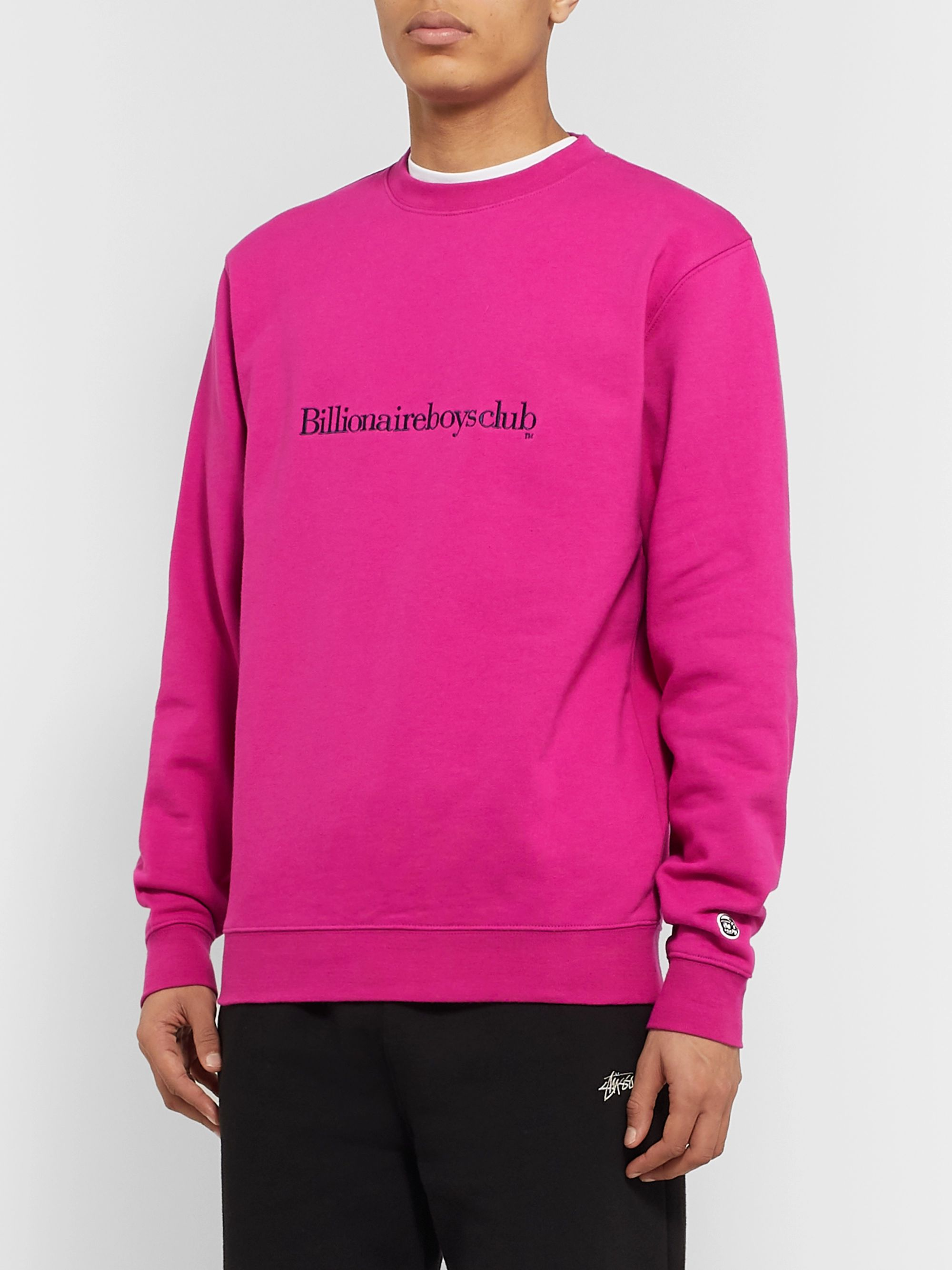 Billionaire Boys Club Logo-Embroidered Loopback Cotton-Jersey Sweatshirt