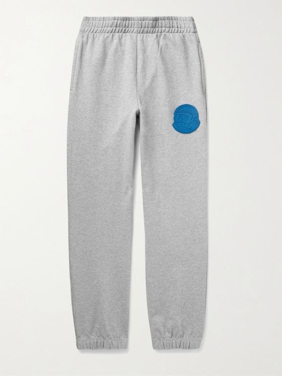 Billionaire Boys Club Tapered Logo-Appliquéd Mélange Loopback Cotton-Jersey Sweatpants