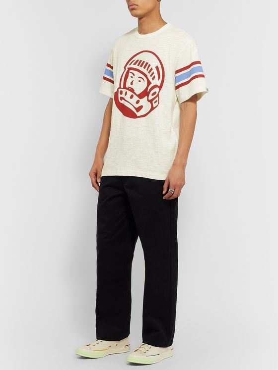 Billionaire Boys Club Striped Logo-Print Cotton-Jersey T-Shirt