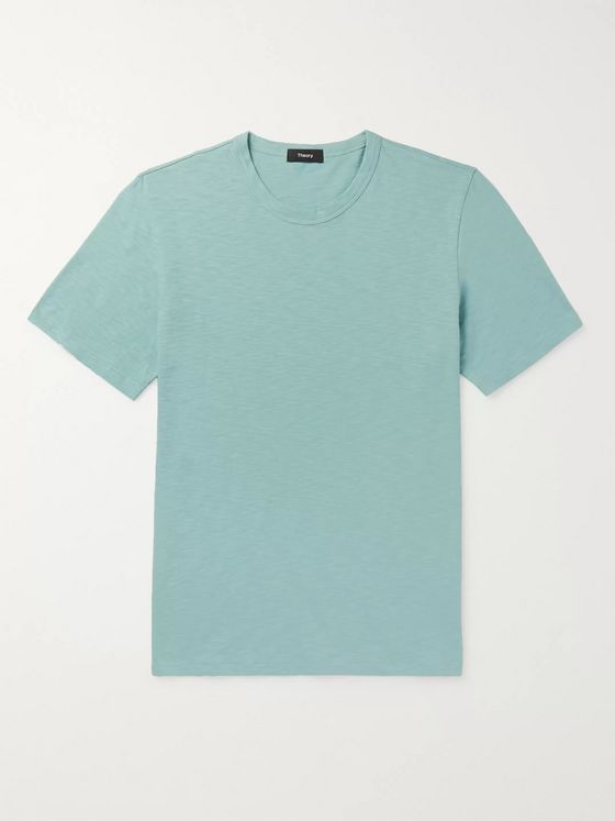 Theory Cosmos Slub Cotton-Jersey T-Shirt