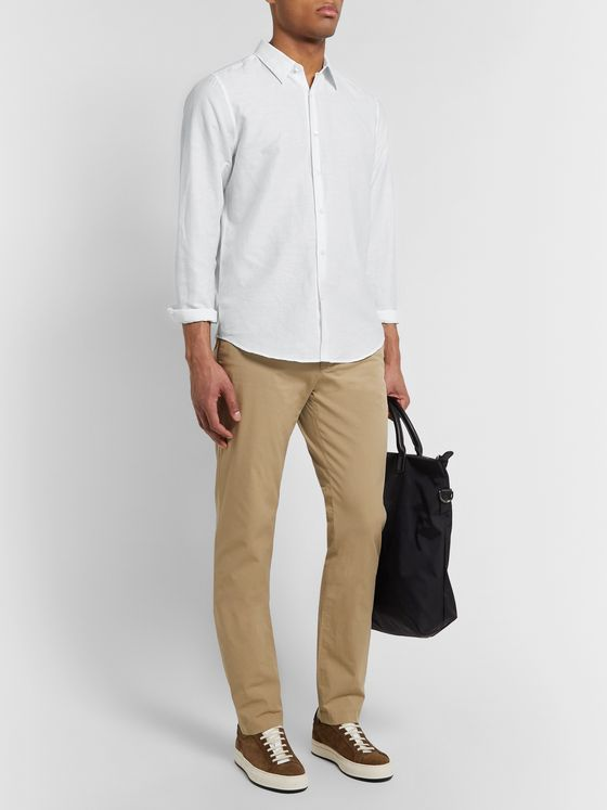 Theory Essential Irving Linen and Cotton-Blend Shirt