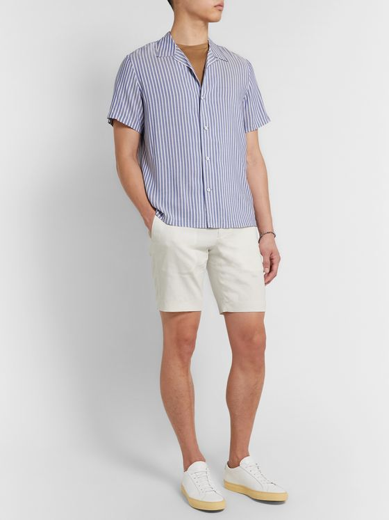 Theory Curtis Slim-Fit Stretch Linen-Blend Shorts