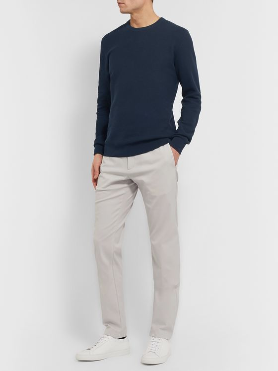 Theory Riland Cotton-Blend Piqué  Sweater