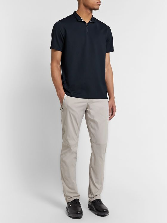 Bogner Alain Cotton-Blend Piqué Half-Zip Golf Polo Shirt