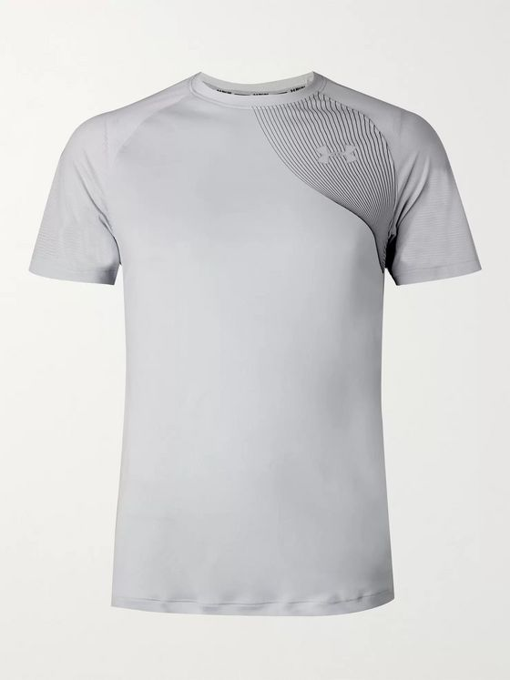 Under Armour UA Qualifier Iso-Chill Mesh and Stretch Tech-Jersey T-Shirt