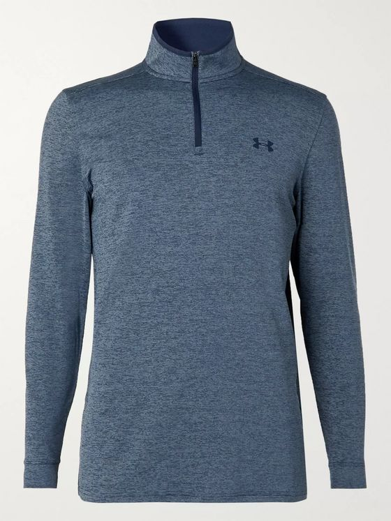 Under Armour UA Playoff 2.0 Mélange Stretch-Jersey Half-Zip Golf Top