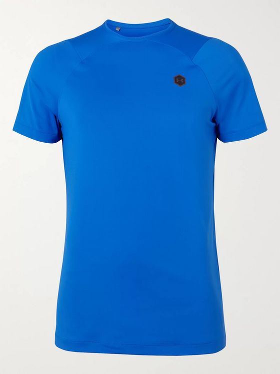 Under Armour UA Rush Mesh-Panelled Celliant HeatGear T-Shirt