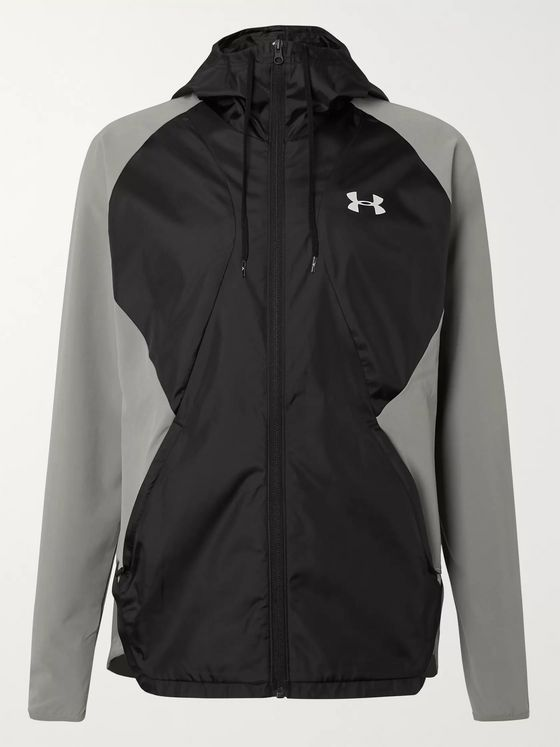 Under Armour UA Ripstop-Panelled Jersey and Shell Hooded Jacket