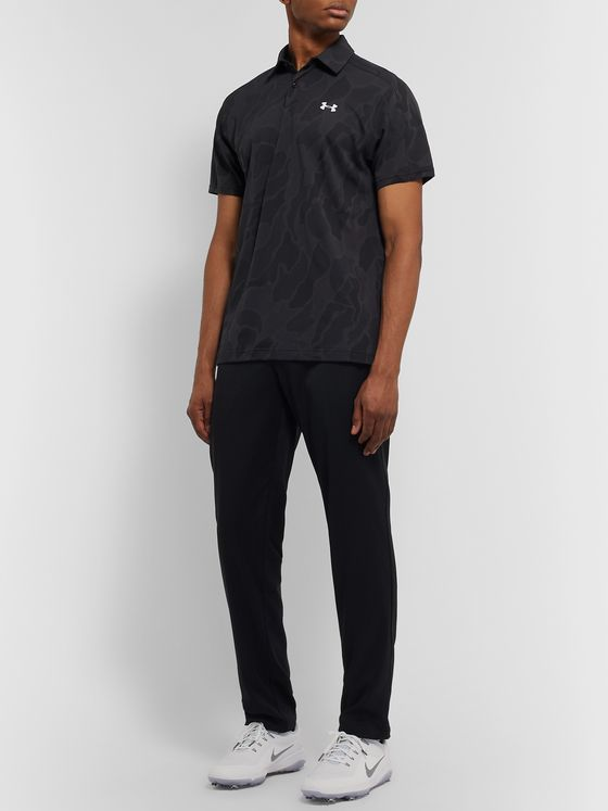 Under Armour Vanish Jacquard-Mesh Polo Shirt
