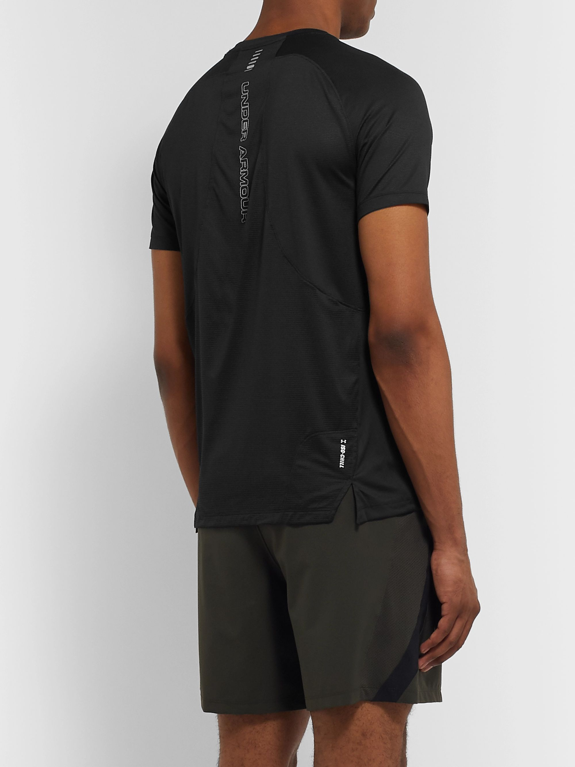 Under Armour UA Qualifier Iso-Chill Printed Mesh-Panelled Stretch-Jersey T-Shirt