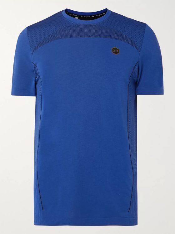 Under Armour UA Rush Mesh-Panelled Celliant Stretch-Jersey T-Shirt