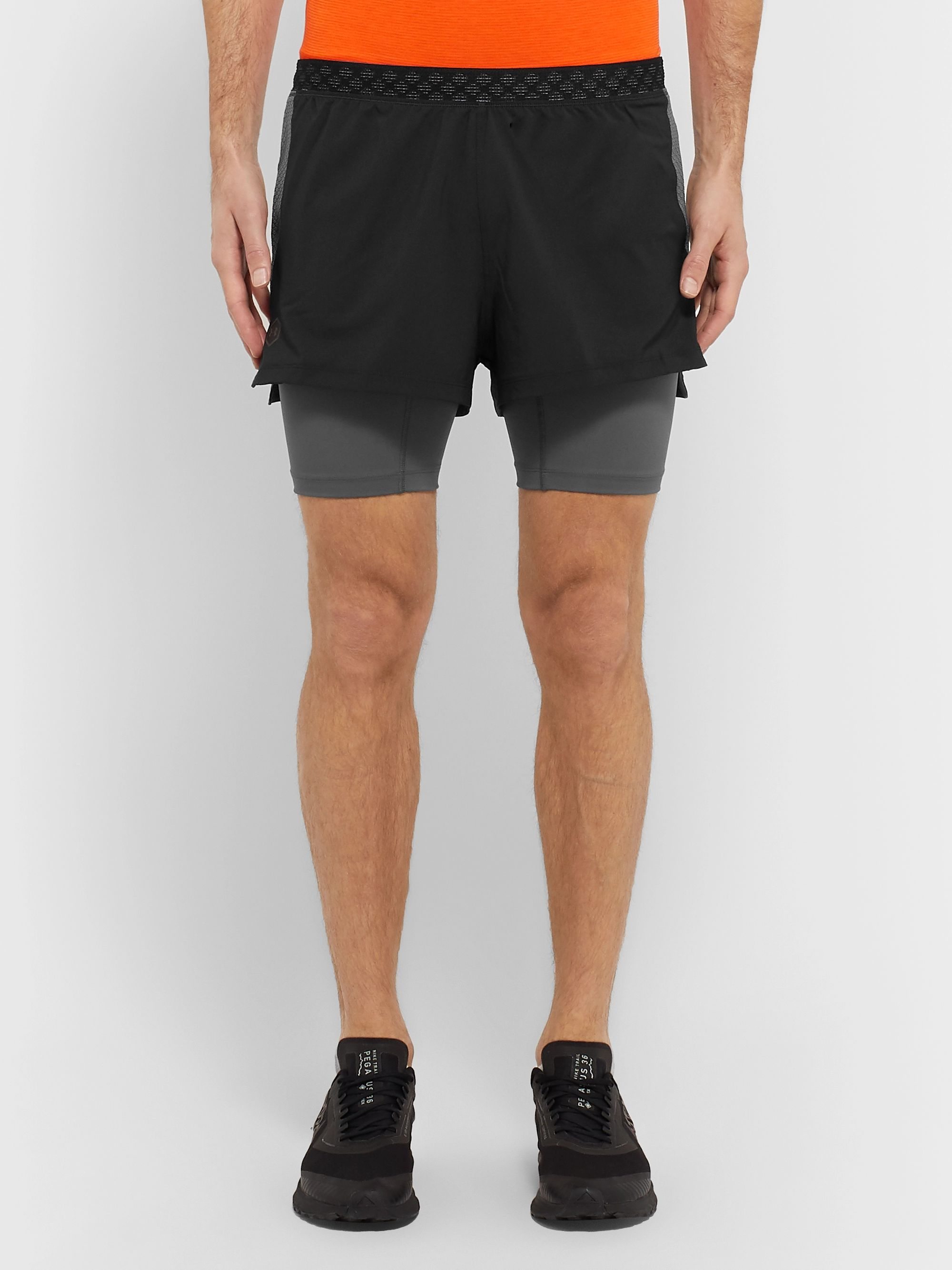 Under Armour UA Rush Slim-Fit Layered Stretch-Shell Shorts
