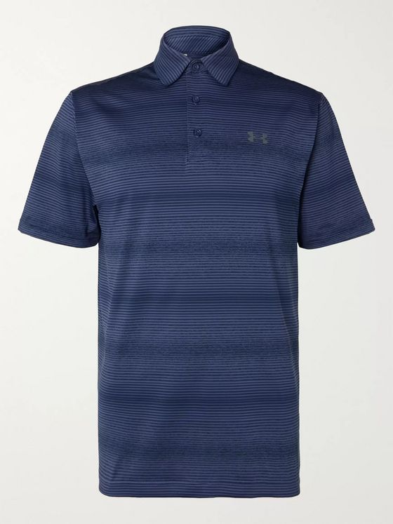 Under Armour UA Playoff 2.0 Striped Stretch-Jersey Golf Polo Shirt