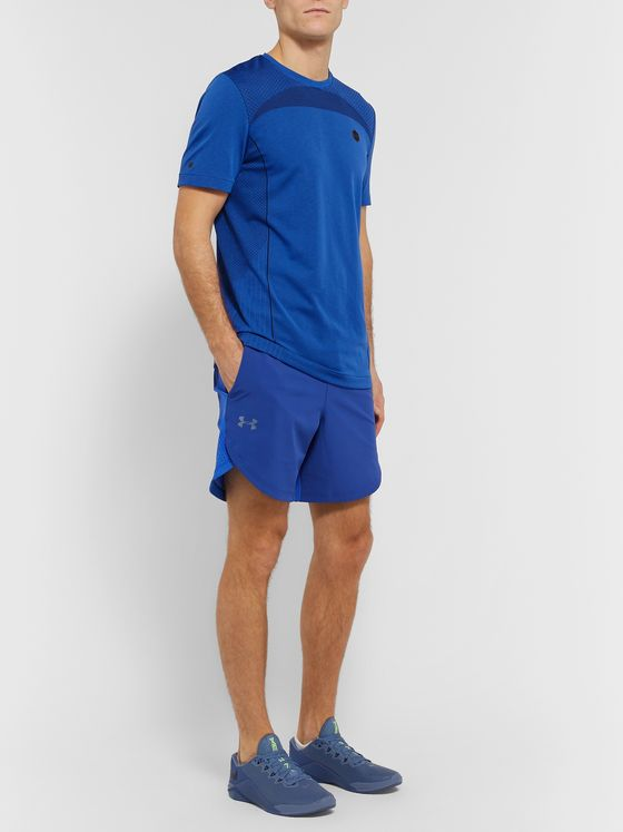 Under Armour Mesh-Panelled Stretch-Shell Shorts