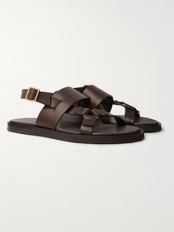 Ermenegildo Zegna Leather Sandals