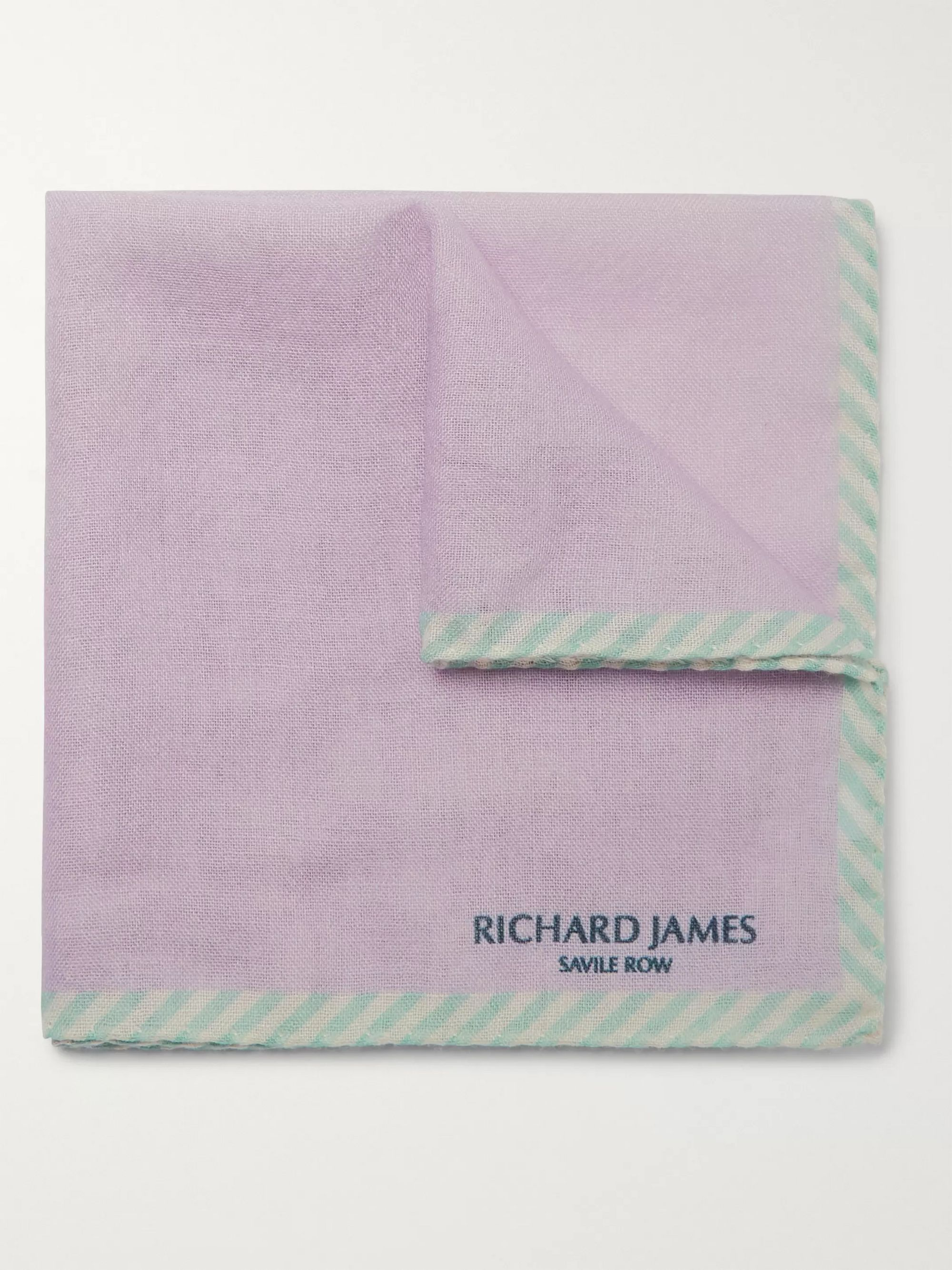 Richard James Wool and Silk-Blend Pocket Square