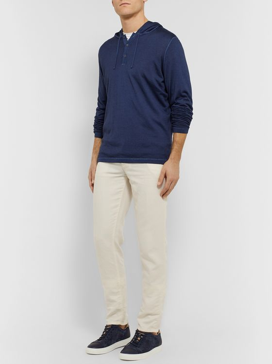 Kiton Cashmere and Silk-Blend Half-Placket Hoodie
