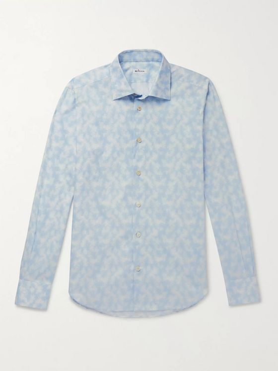 KITON Slim-Fit Printed Cotton Shirt