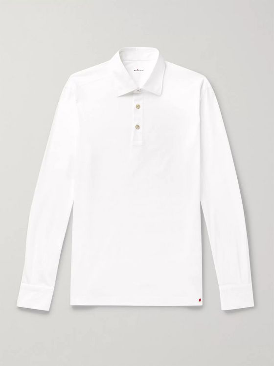 KITON Slim-Fit Cotton-Jersey Polo Shirt