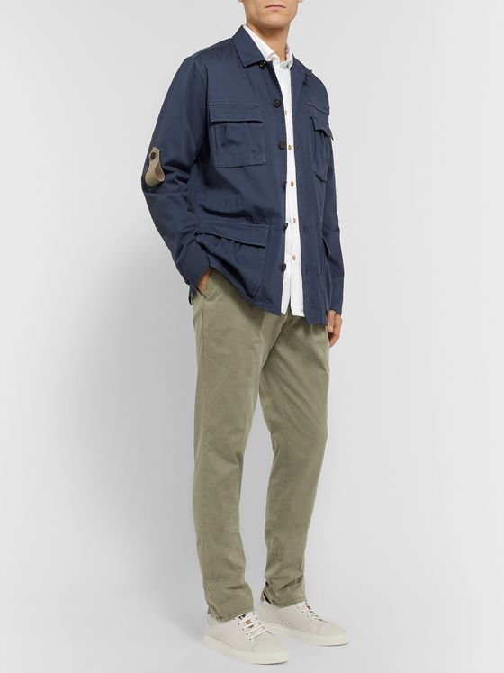 KITON Slim-Fit Cotton-Jersey Shirt