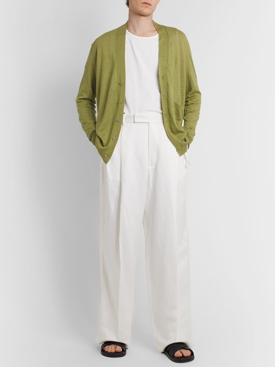 Rochas Linen, Cashmere and Silk-Blend Cardigan