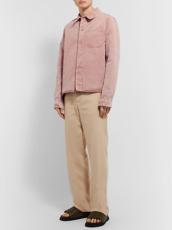 Rochas Marble-Dyed Cotton and Linen-Blend Shirt Jacket