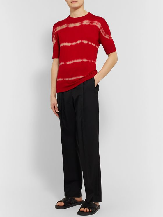 Rochas Slim-Fit Tie-Dyed Cashmere and Silk-Blend T-Shirt