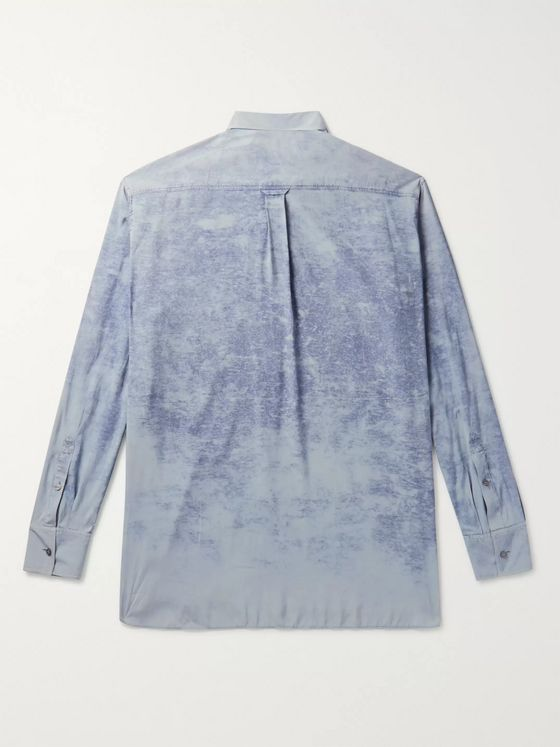 Rochas Garment-Dyed Silk Shirt
